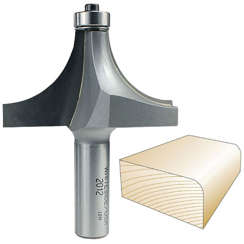 Whiteside 2012 Round Over Router Bit, 1/2-Inch SH x 1-Inch R