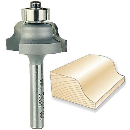 Whiteside 2200 Roman Ogee Bit - 1/4 Inch SH X 5/32 Inch R