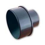 Dust Collection Hose Adapter Fitting - 3 x 2-1/2