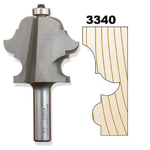 Whiteside 3340 Classic Multi-Forms Router Bit, 1/2-Inch SH x 1/4-Inch BD x 3/16-Inch R