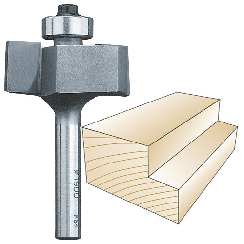 Whiteside 1900 Rabbeting Router Bit, 1/4-Inch SH x 1/2-Inch CL x 3/8-Inch CD