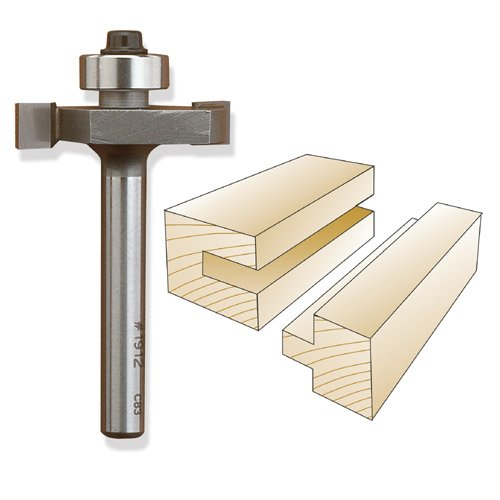 Whiteside 1906 Slotting & Rabbeting Router Bit, 1/2-Inch SH x 1/8-Inch CL x 3/8-Inch CD