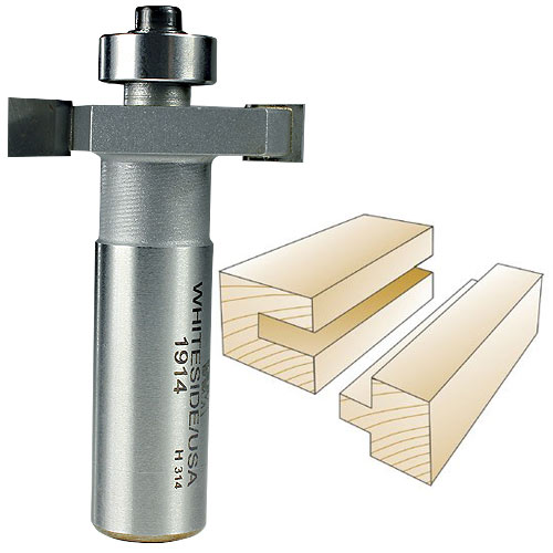 Whiteside 1914 Slotting & Rabbeting Router Bit, 1/2-Inch SH x 1/8-Inch CL x 3/8-Inch CD