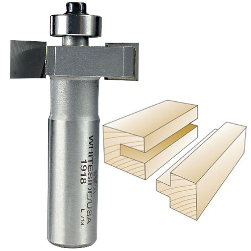 Whiteside 1918 Slotting & Rabbeting Router Bit, 1/2-Inch SH x 3/8-Inch CL x 3/8-Inch CD