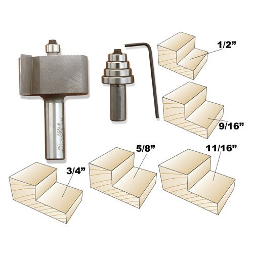 Whiteside 1960 Deep Multi-Rabbet Bit Set - 1/2 Inch SH X 1 Inch CL X 1-7/8 Inch LD