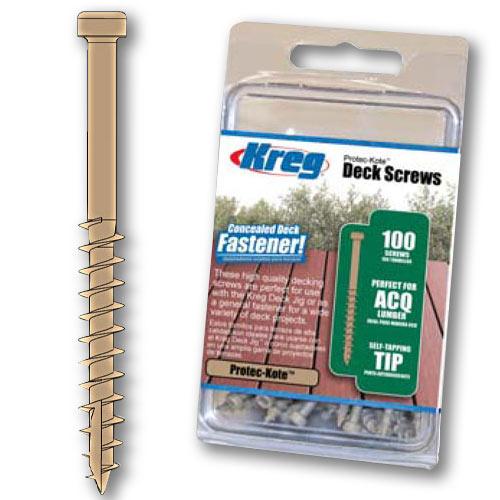 KREG PROTEC-KOTE DECK SCREWS - 100 CT