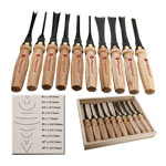 Flexcut #MC100 10 Pc. Mallet Chisel Carving Set