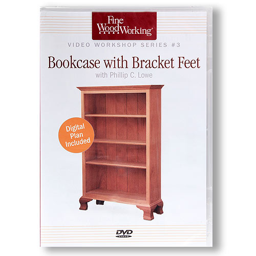 BOOKCASE WITH BRACKET FEET DVD