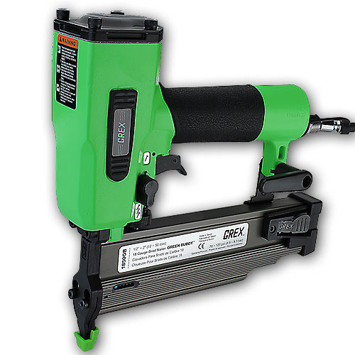 Grex #1850GB Green Buddy 18 Gauge 1/2 Inch to 2 Inch Brad Nailer