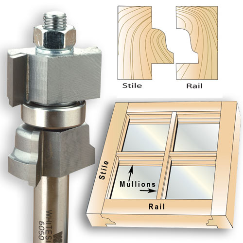 WHITESIDE #6050 WINDOW SASH BIT - 1/2 SH X 1-3/8 CD