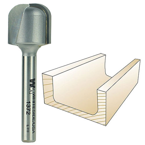 Whiteside 1372 Bowl & Tray Router Bit, 1/4-Inch SH x 1/4-Inch R x 3/4-Inch CD