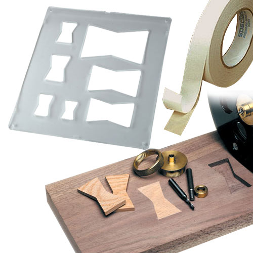 Router Accessories Butterfly Template Inlay Kit Package