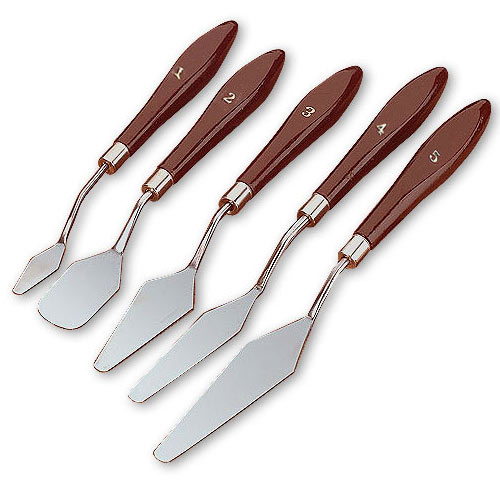 5 PC  METAL PALETTE KNIFE SET
