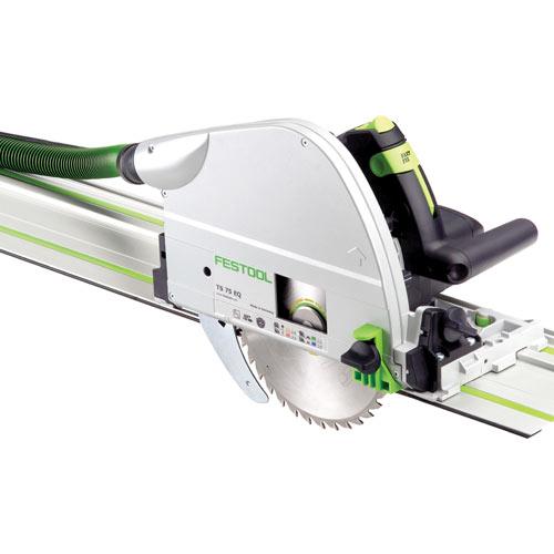 Festool 575390 TS 75 EQ Plungecut Saw Imperial With 75 Inch Guide Rail