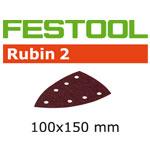 Festool 499138 100 x 150mm Rubin 2 P150 Delta Abrasives, 50 ct
