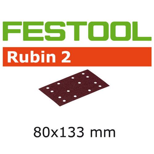 Festool 499049 80 x 133mm Rubin 2 P100 Abrasives, 50 ct