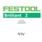FESTOOL  492880 BRILLIANT 2 P80 DELTA ABRASIVES - 93MM - 10 PK.