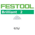 FESTOOL  492881 BRILLIANT 2 P120 DELTA ABRASIVES - 3-1/2 - 10 PK.