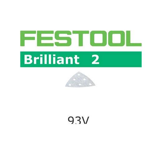 Festool 492882 Brilliant 2 P180 Delta Abrasives - 93mm - 10 Pk