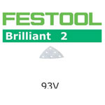 Festool 492882 Brilliant 2 P180 Delta Abrasives - 93mm - 10 Pk.