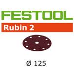 Festool 499097 Rubin 2 125mm P120 Disc Abrasives, 50 ct