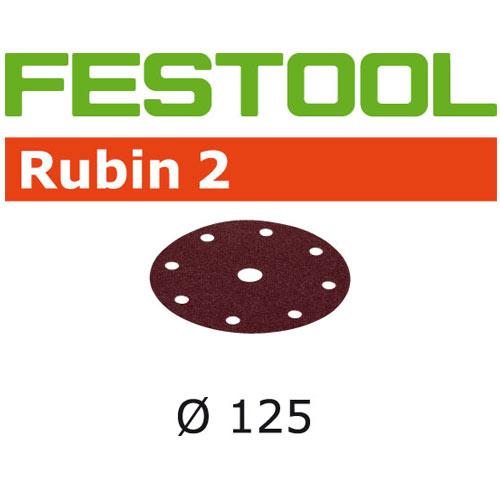 Festool 499098 Rubin 2 P150 Disc Abrasives - 125mm - 50 Pk