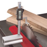 WIXEY #WR200 DIGITAL HEIGHT GAUGE WITH FRACTIONS - ON TABLE SAW