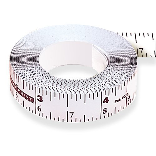 CenterPoint Self-Adhesive Bench Measuring Tape - 12 Ft