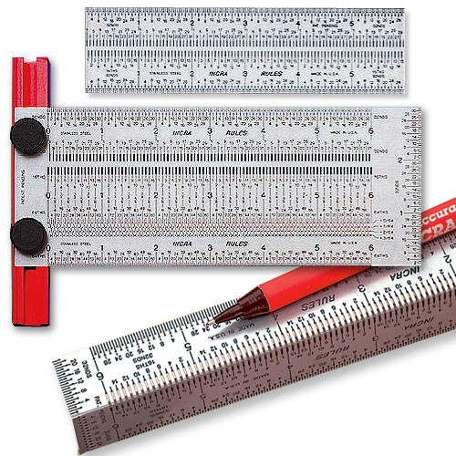 Incra 6-Inch Marking Rule Set
