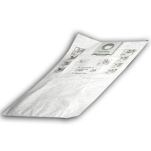 Festool 496186 CT 36 Self Cleaning Filter Bags, 5 ct