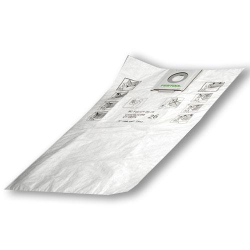 Festool 496187 CT 26 Self Cleaning Filter Bags, 5 ct