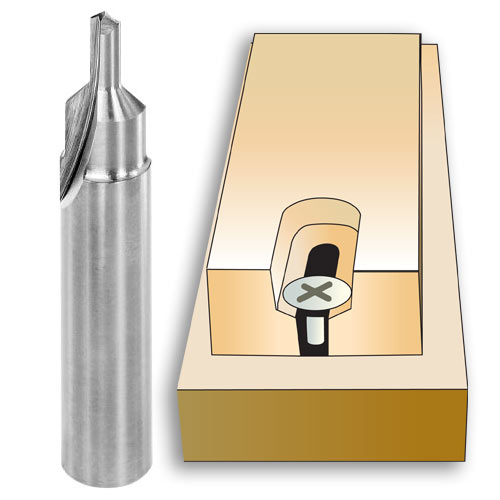 WHITESIDE 82 DEGREE COUNTERSINK SCREW SLOT BIT - 1/2 SH X 1/2 LD