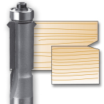 Whiteside 2426 Flush Trim V-Groove Bit - 1/2 SH X 1/2 CD X 1 CL