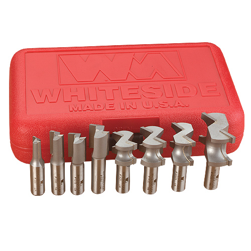 Whiteside #600 8 Pc  Incra Hingecrafter Router Bit Set - 1/2 Inch Shank