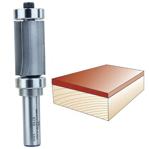 Whiteside 2715 Combination Flush Trim Router Bit, 1/2-Inch Shank x 7/8-Inch CD x 1-1/2-Inch CL