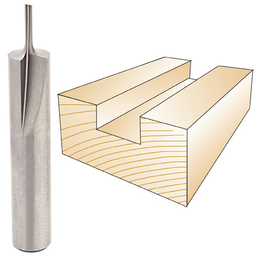 WHITESIDE #SC062 STRAIGHT INLAY BIT - 1/4 SH X 1/16 CD X 3/16 CL