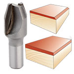 Whiteside #2800 Combination Flush Trim or Bevel Laminate Trim Bit - 1/4 SH X 7/16 CD X 22-1/2 Deg.