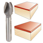 Whiteside #2801 Combination Flush Trim or Bevel Laminate Trim Bit - 1/4 SH X 7/16 CD X 22-1/2 Deg.
