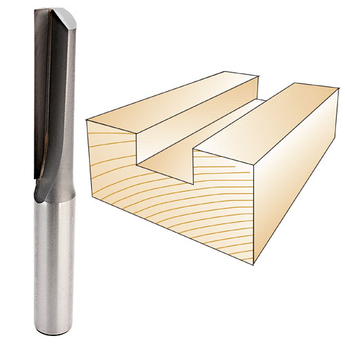 Whiteside 1055A Straight Single Flute Router Bit, 1/2-Inch Shank x 1/2-Inch CD x 2-1/2-Inch CL