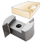 Whiteside 131250 Screw Type Helix Mortise Cutter w/Down Shear 1-1/4 CD