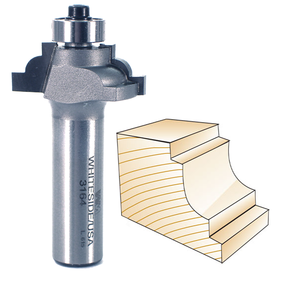 Whiteside 3162 Classical Cove Router Bit, 1/2-Inch SH x 5/32-Inch R