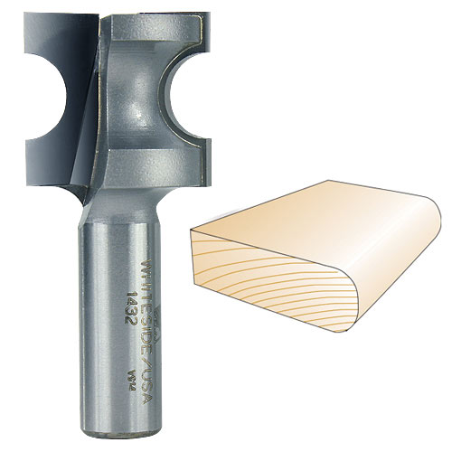 Whiteside 1432 Bull Nose Router Bit, 1/2-Inch SH x 1/4-Inch R x 1/2-Inch CD