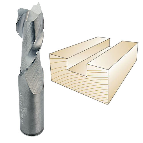 Whiteside #RD5125CB Spiral Down Cut Bit W/Chip Breaker - 1/2 Inch SH X 1/2 Inch CD X 1-1/4 Inch CL