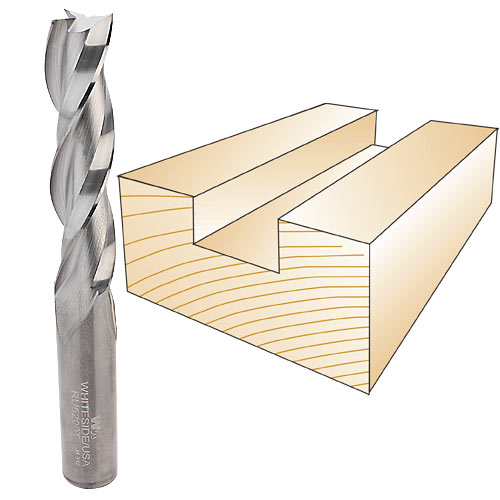 WHITESIDE #RU5200T THREE FLUTE SPIRAL UP CUT BIT - 1/2 SH X 1/2 CD X 2 CL
