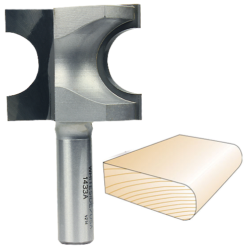 Whiteside 1433A Bull Nose Router Bit, 1/2-Inch SH x 3/8-Inch R x 3/4-Inch CD
