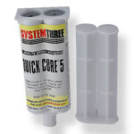 System Three Quick Cure-5 Epoxy, 1.6 oz. Syringe