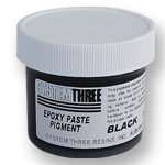 SYSTEM THREE BLACK EPOXY PASTE PIGMENT -  2 OZ.