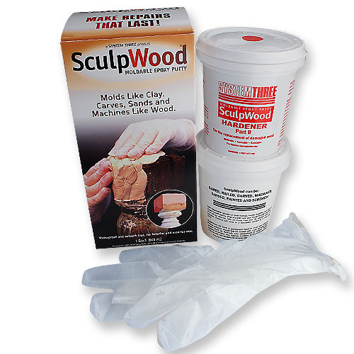 SYSTEM THREE SCULPWOOD PUTTY - QUART