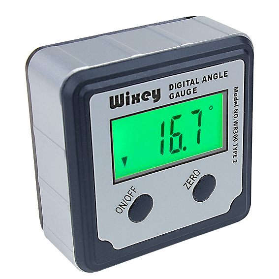 WIXEY #WR300 DIGITAL ANGLE GAUGE W/BACKLIGHT - TYPE 2