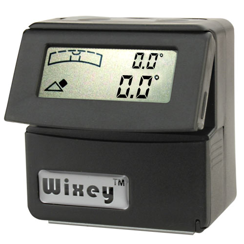 WIXEY #WR365 DELUXE DIGITAL ANGLE GAUGE WITH LEVEL - CLIP